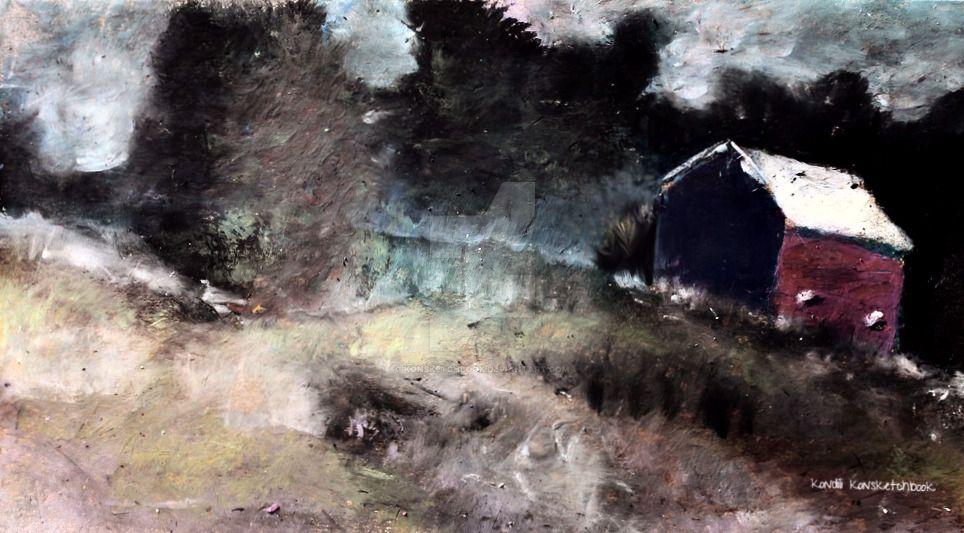 night hill by konsketchbook