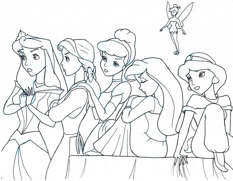 Line Art Disney : Awesome coloring pages for teens