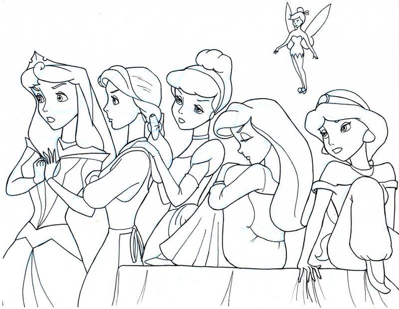 Line Drawing Disney : The disney females line art by anime ray on deviantart