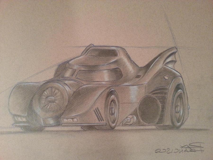 Batmobile Drawing by Anime-Ray