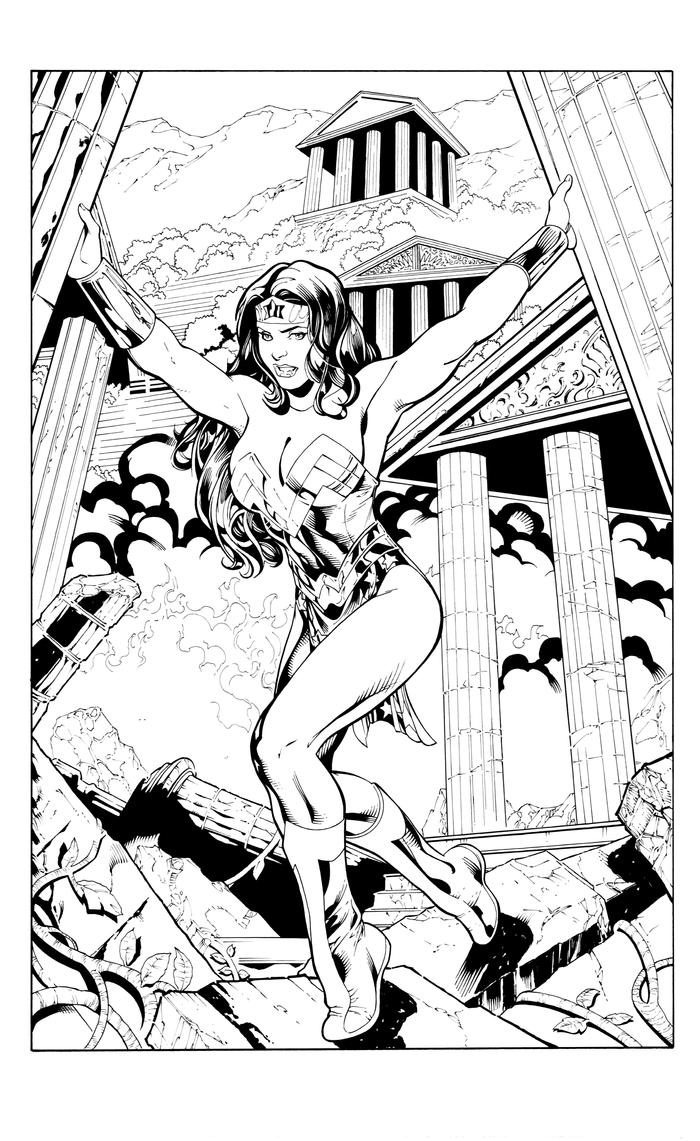 Wonder Woman sample inks by RolandParis