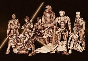 Star Wars: KOTOR gang sketch by freyah