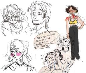 SW - Small Sketchdump by princessepandora