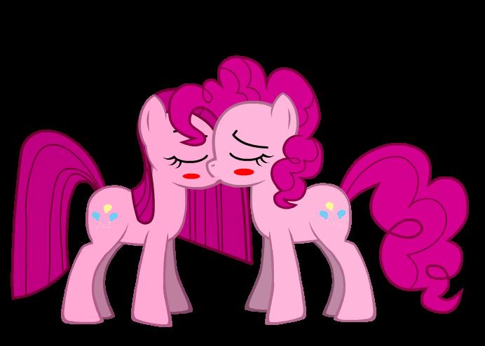 Pinkamena kiss Pinkie Pie by BrisaFluttershy