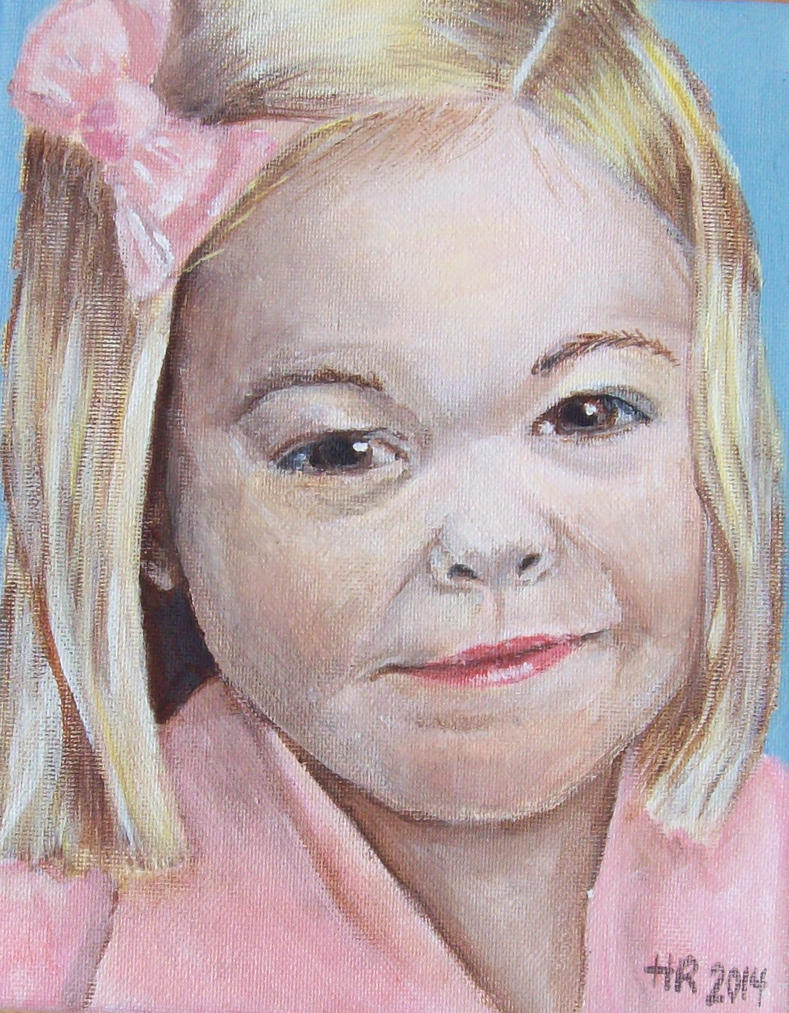 Acrylic Paint Portrait example by helenscreations
