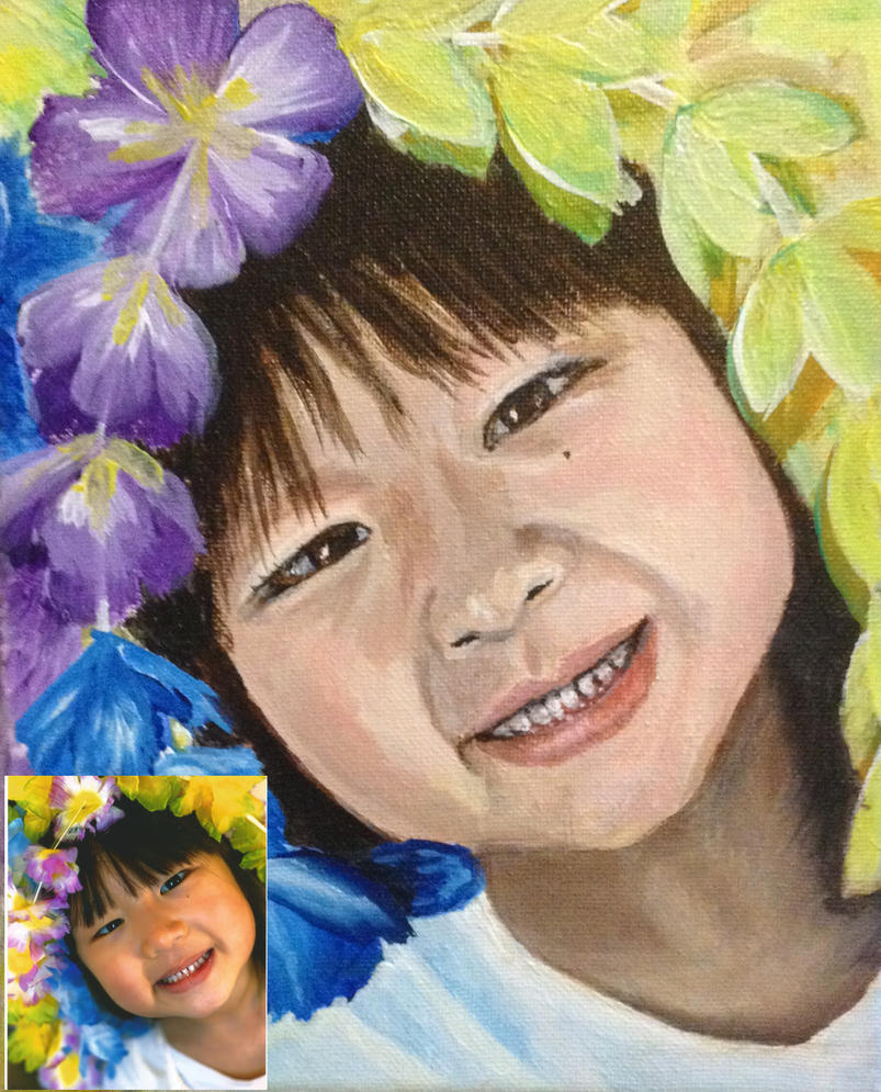 Acrylic Portrait Example #3 by helenscreations