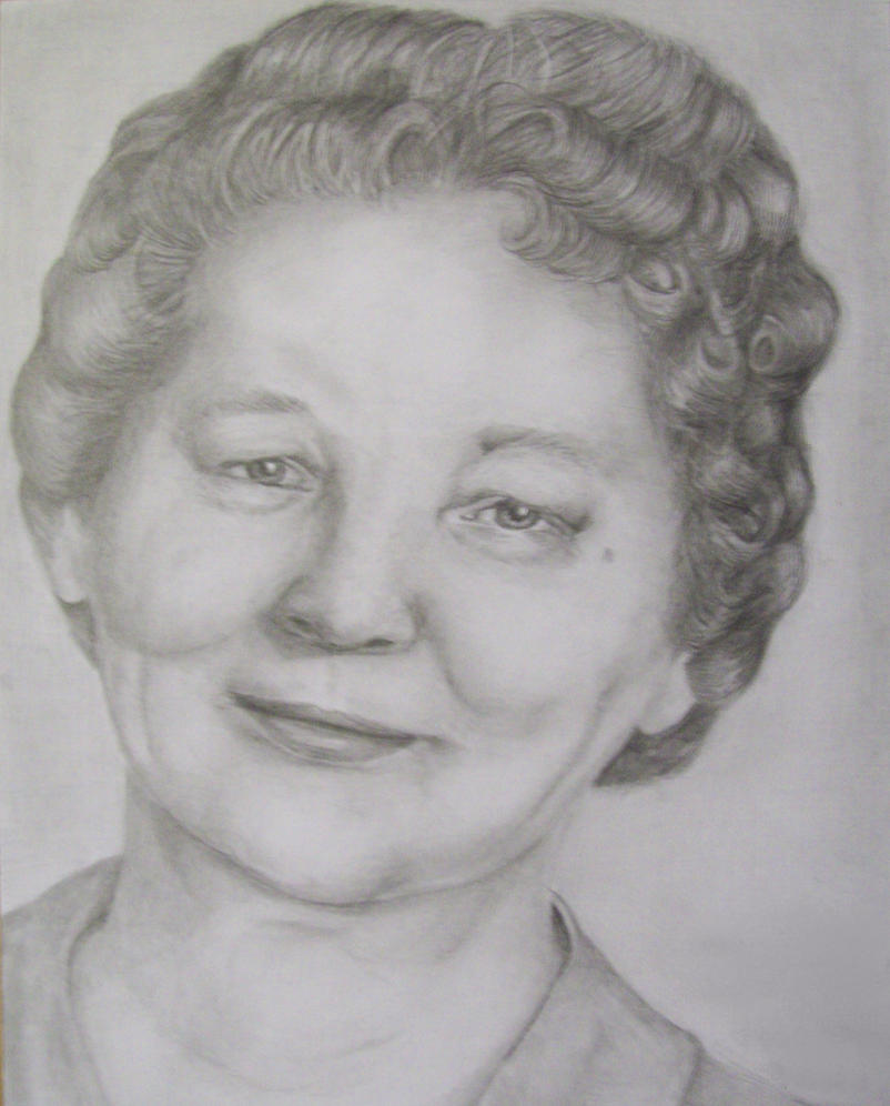 Grandmother in Graphite by helenscreations