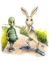 Tortoise and Hare Color by jeh-artist
