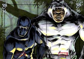 Black Panther vs. Man-Ape by jeh-artist