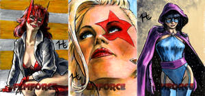 Femforce Sketch Cards 2 by jeh-artist
