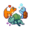 Starters Pixel by Espeon4ever