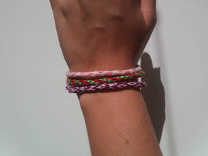 My first kumihimo bracelets