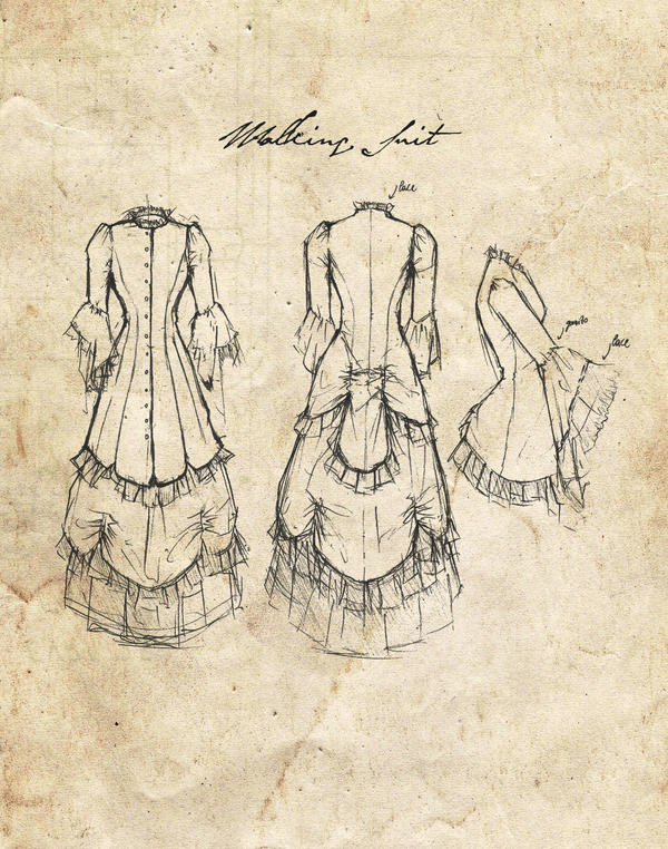 Study: Women's Victorian Clothing 03 by NaamahVonhell