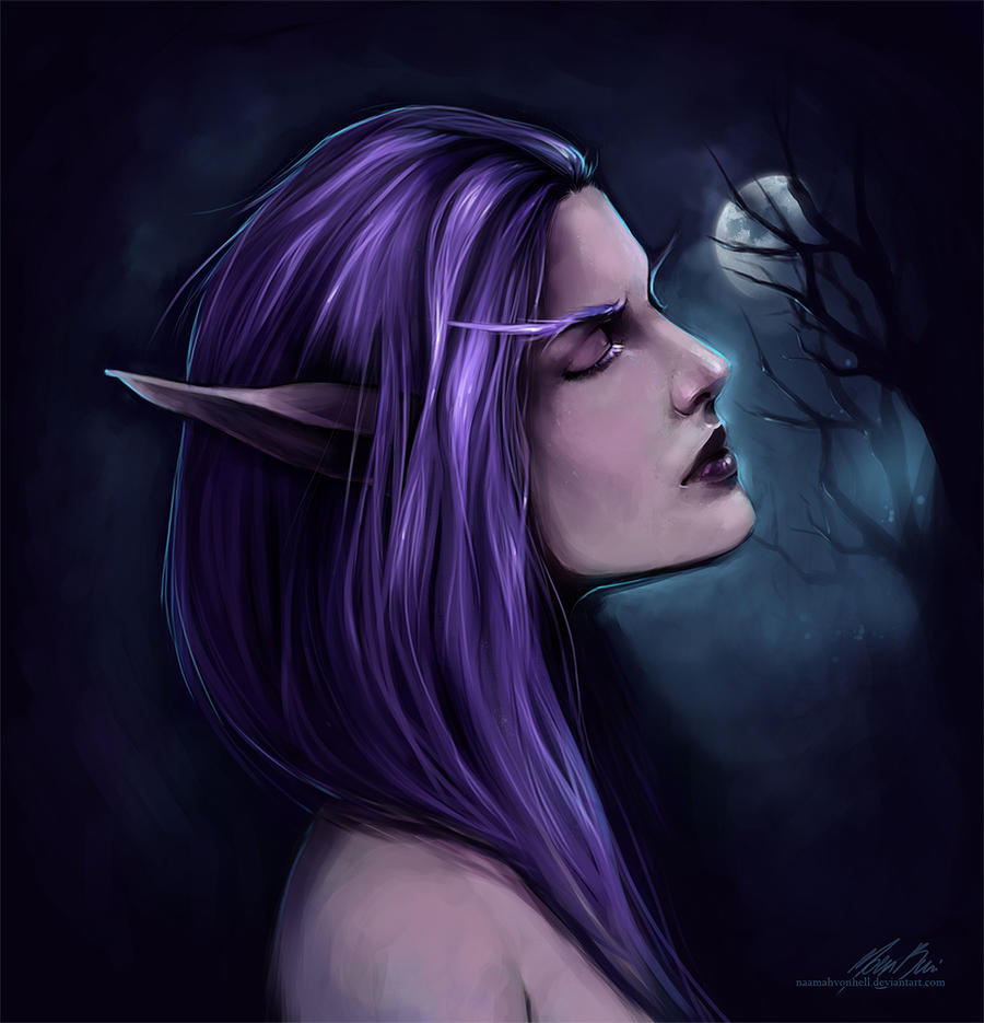 Night Elf | Warcraft inspired by NaamahVonhell