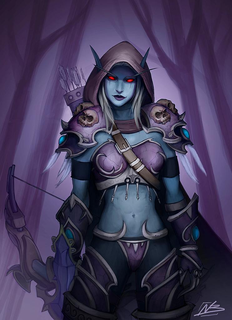 Warcraft Fan Art: Sylvanas Windrunner by NaamahVonhell