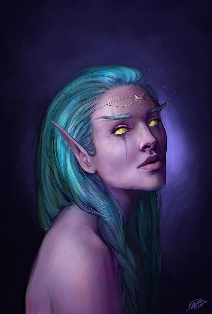 WoW Warcraft - Night Elf II by NaamahVonhell
