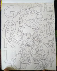 Goku: The Journey (Inked)  by animelifeawesome