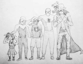 Spiderverse Family by animelifeawesome