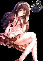 render girl anime maid by ArihiroKushinada