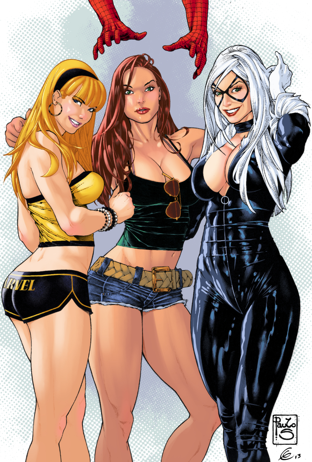 Gwen Stacy Mary Jane Black Cat