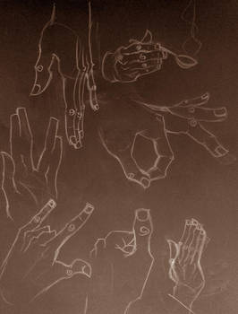 Hand sketches.