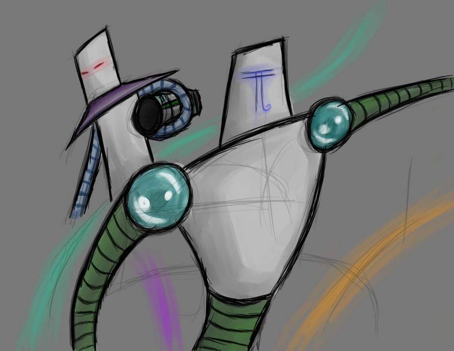 Robots by Yxanr