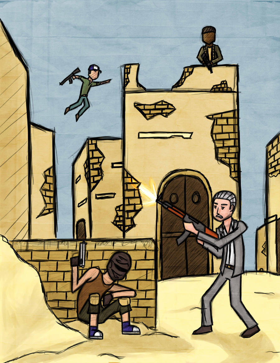 Uncharted 3 Multiplayer Fanart by Yxanr