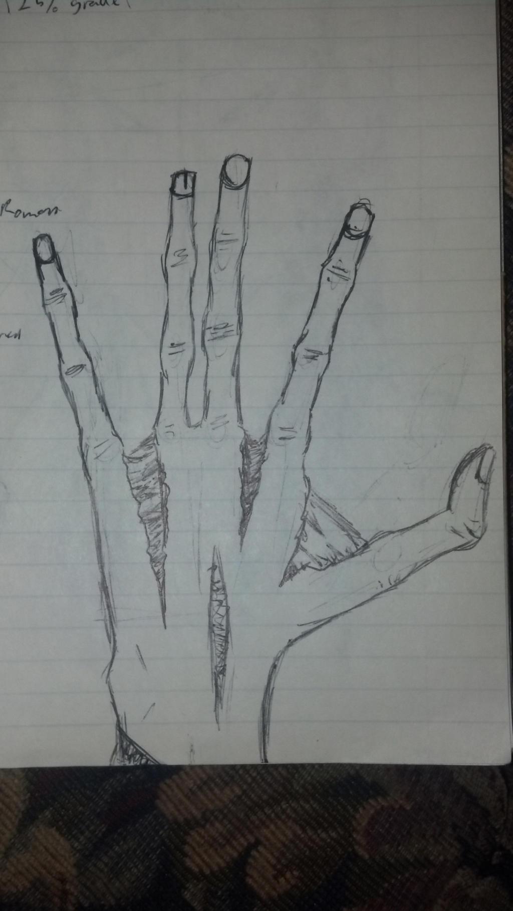 Splitting Hand by Yxanr