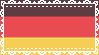 Lace German Flag Stamp by IdiosyncrARTic