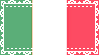 Lace Italian Flag Stamp by IdiosyncrARTic