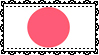 Lace Japanese Flag Stamp by IdiosyncrARTic