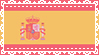 Lace Spanish Flag Stamp by IdiosyncrARTic