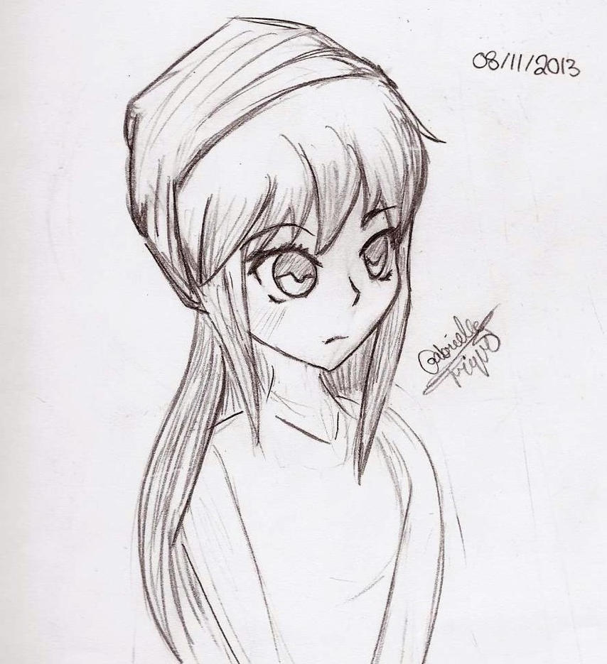 Anime Girl Sketch By Sly Foxhound On Deviantart