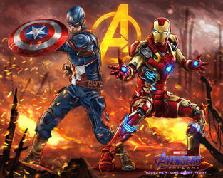 Avengers Endgame - One Last Fight by godfathersky