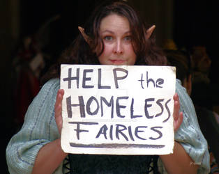 Poor homeless fairy