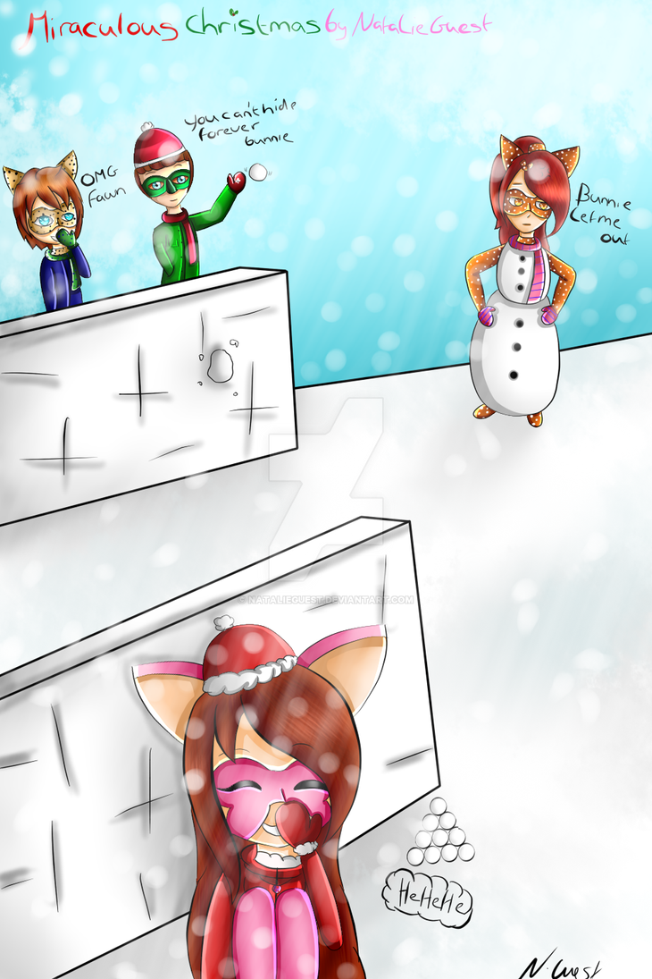 A Miraculous Christmas snowballfight by NatalieGuest