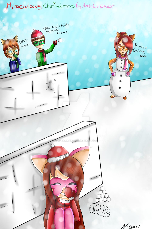 A Miraculous Christmas snowballfight by NatalieGuest