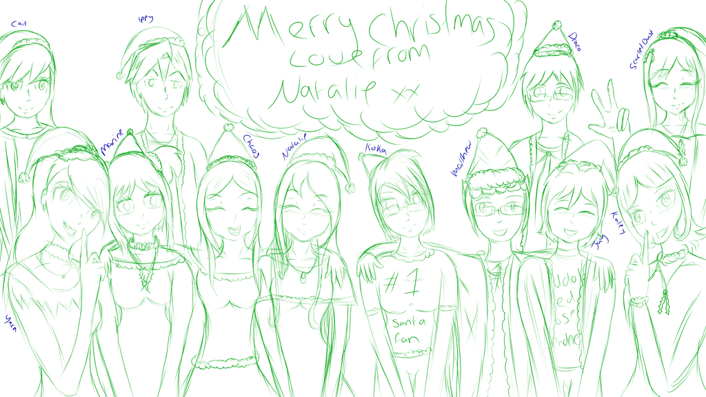Friends Christmas Sketch by NatalieGuest