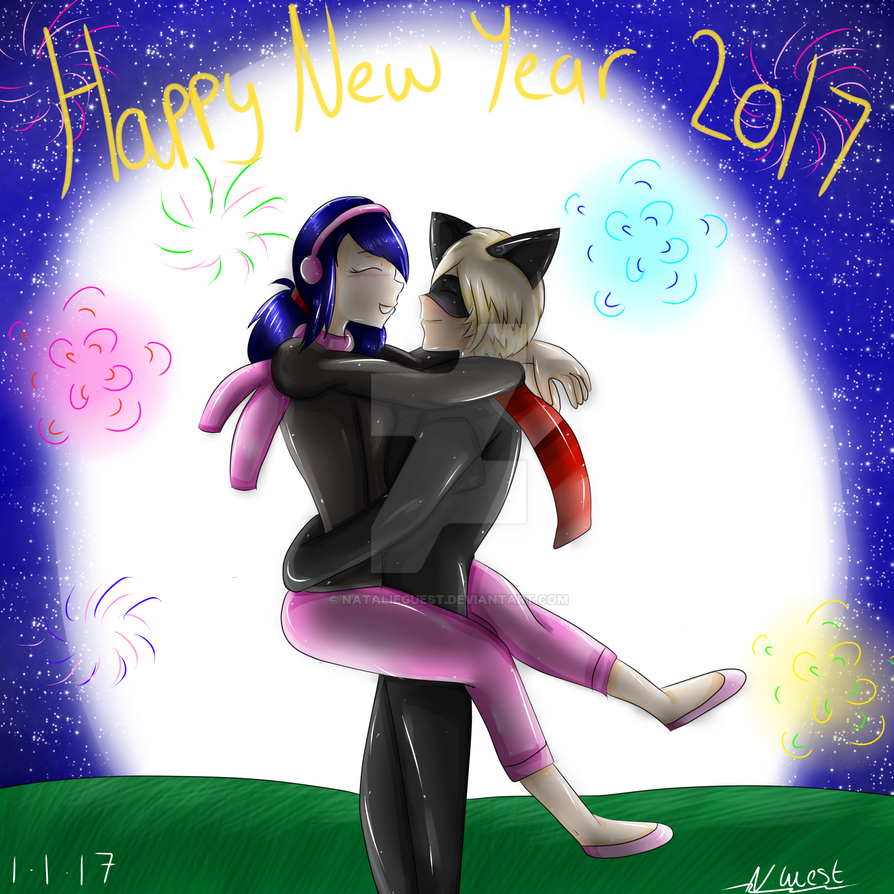 MariChat New Year by NatalieGuest