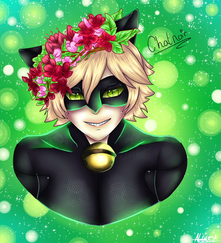 Chatnoir Flower Crown by NatalieGuest
