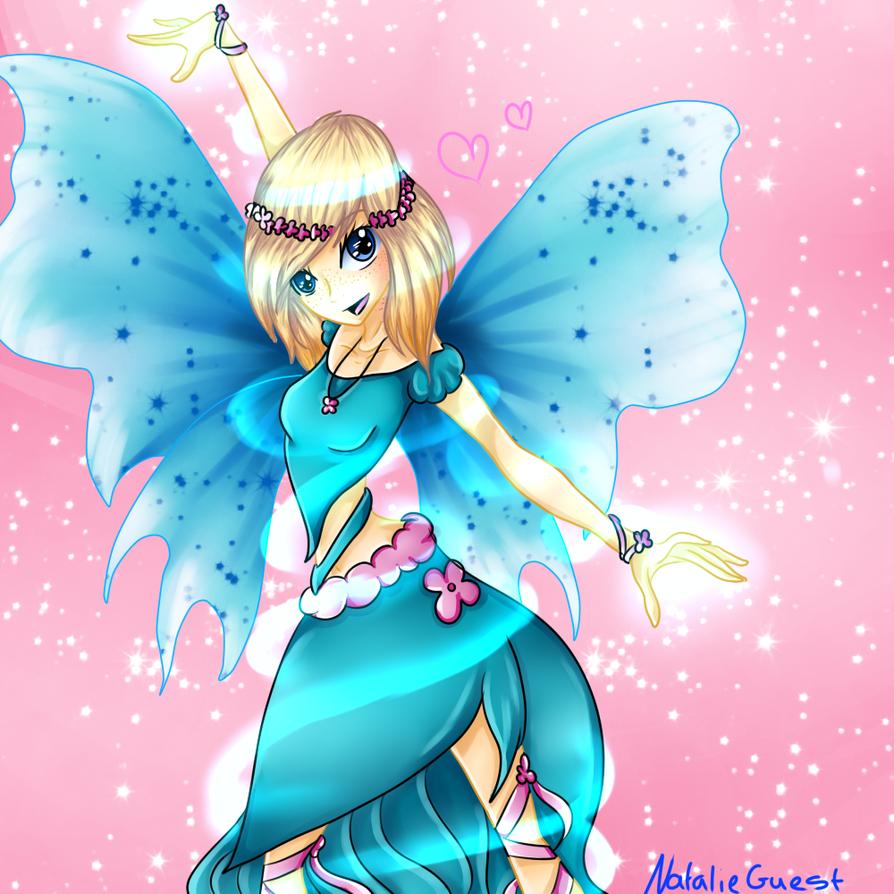 (Art Trade) Flowery Winter Fairy by NatalieGuest