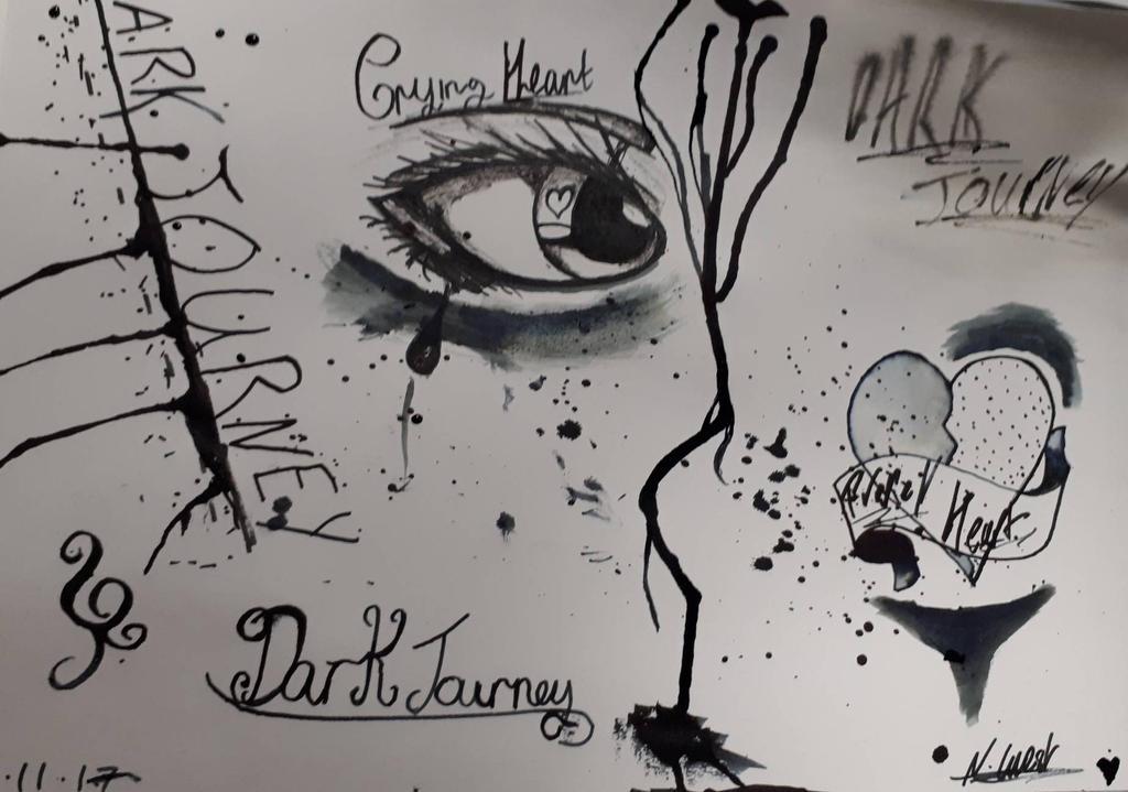 Dark Journey Ink sheet by NatalieGuest