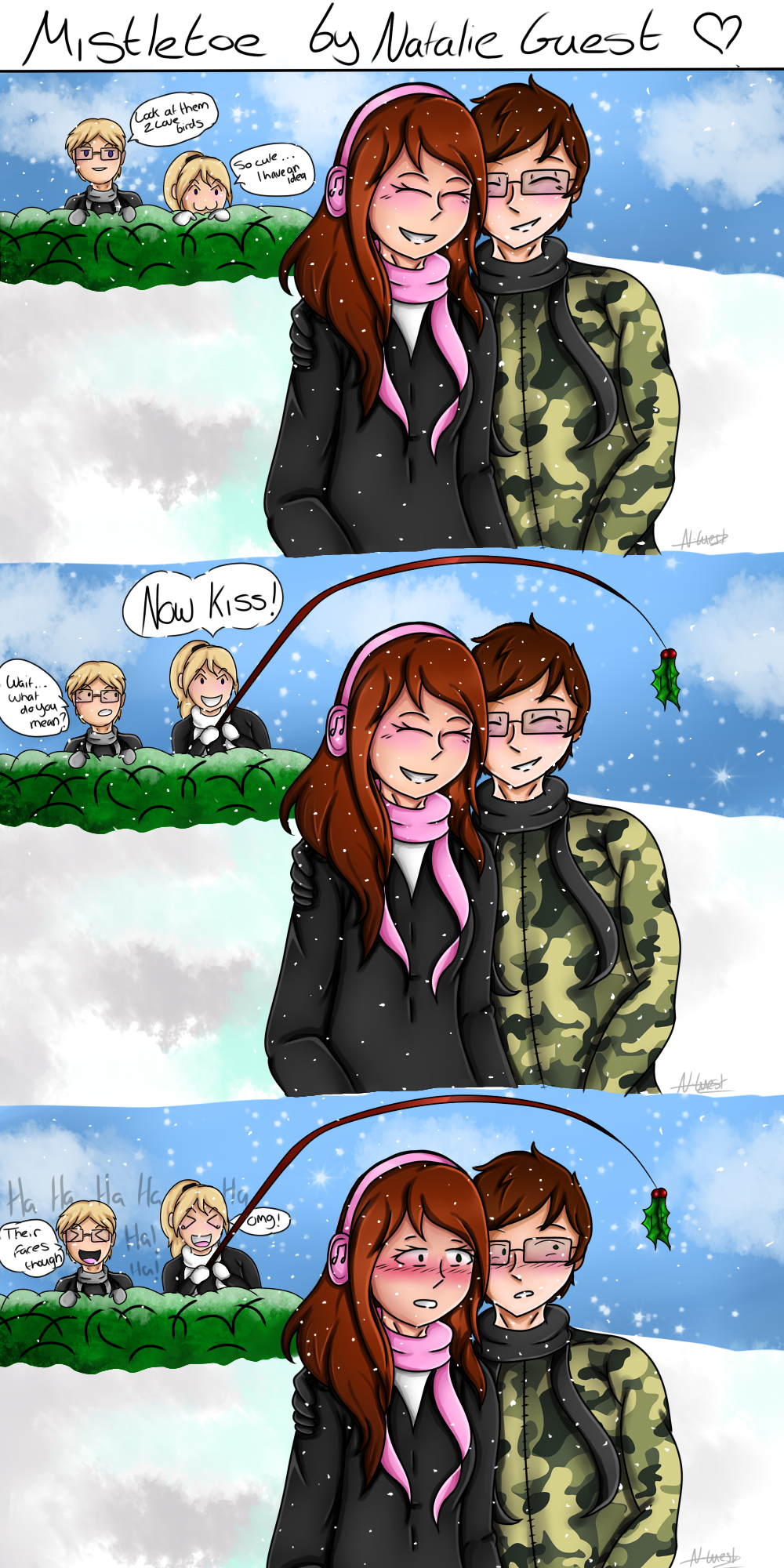 Mistletoe Funny Winter Comic: Priestley Squad by NatalieGuest