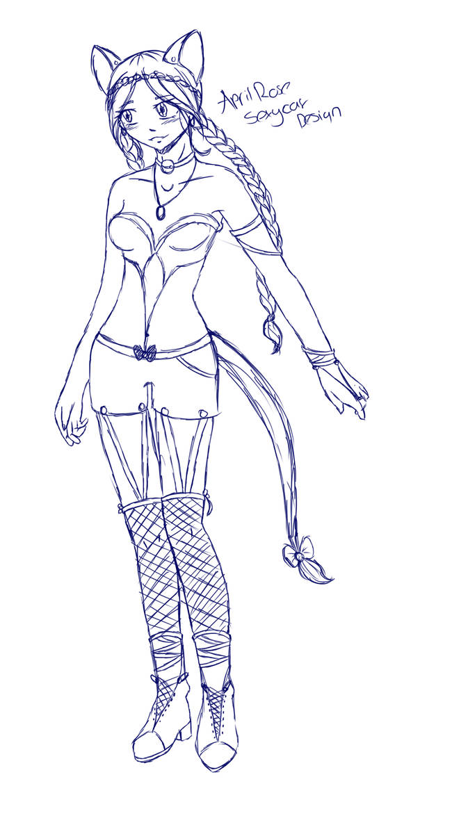 April Halloween Outfit Sketch