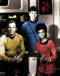 Captain Kirk, Spock and Uhura