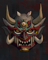 Hannya Mask paint up by balloonwatch