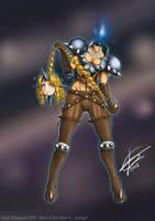 Darkstalkers OC: Odessa Loveless + Astrid Borghild by Testament77