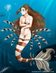 Lion Fish Mermaid - Color by Testament77