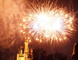Castle Fireworks 3