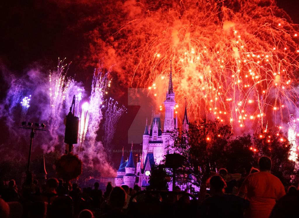 Castle Fireworks 5 by BadInfluenceSpeaks